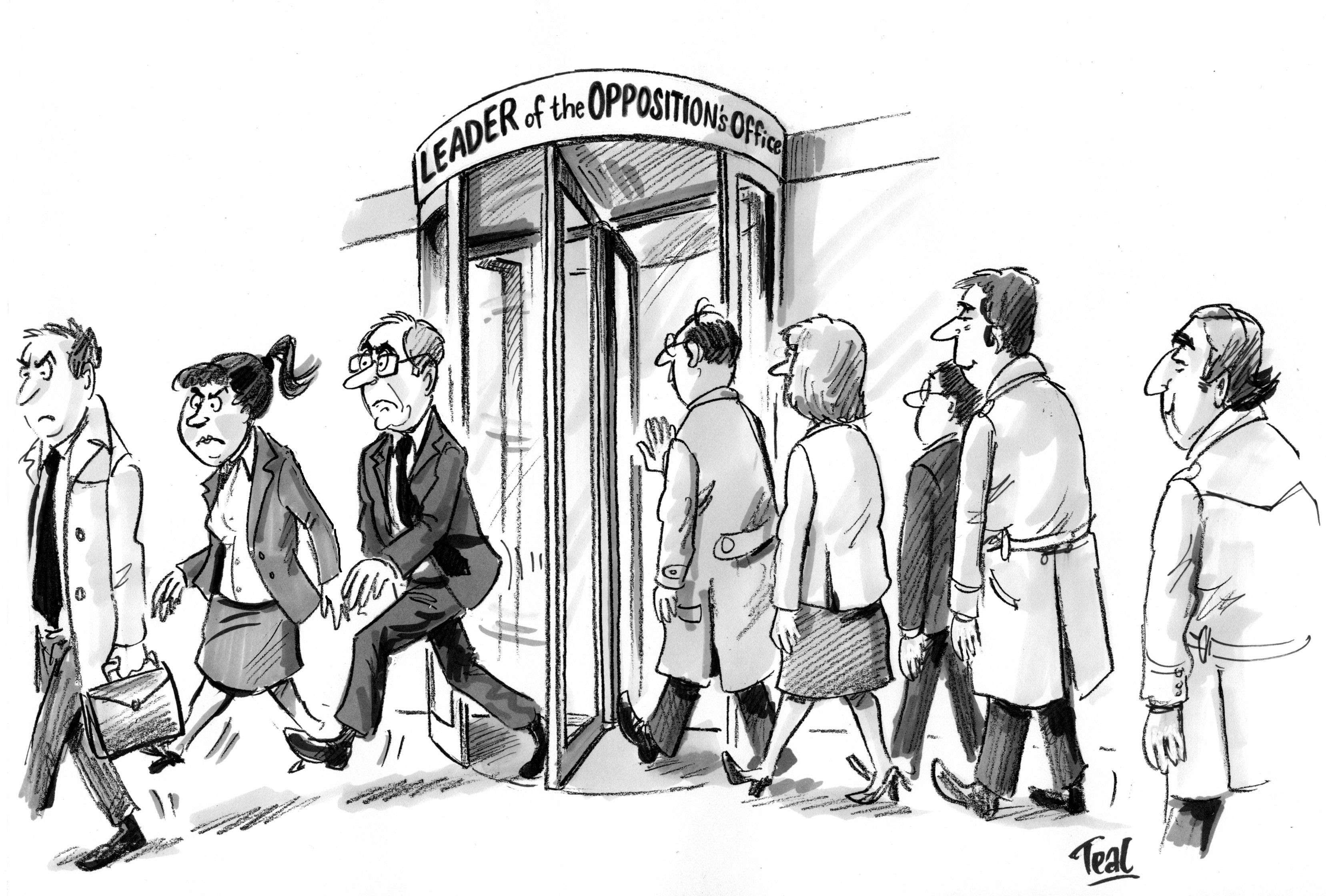 Permanent revolution of the office door